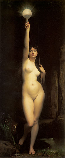 La Vérité - Truth (1870), Jules Joseph Lefebvre, oil on canvas, Musée d'Orsay, Paris, France.